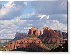 Acrylic Print featuring the photograph Changling Light - Cathedral Rock by Patricia Davidson