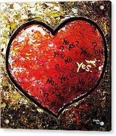 Chaos In Heart Acrylic Print