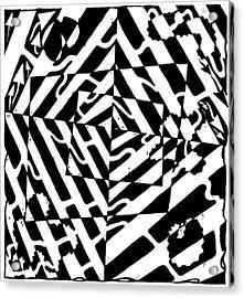 Chaos Maze Optical Illusion Acrylic Print by Yonatan Frimer Maze Artist