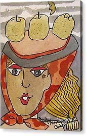 Chapeau Pommes Acrylic Print
