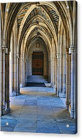 Chapel Arches Acrylic Print by Paulette B Wright