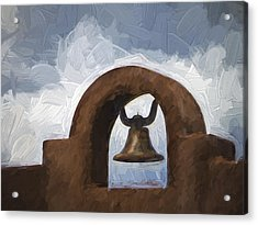 Chapel Bell Chimayo Painterly Effect Acrylic Print by Carol Leigh
