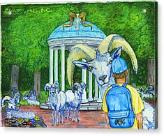 Chapel Hill Nc The Freshman Acrylic Print by Laura Brightwood