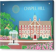 Chapel Hill North Carolina Horizontal Scene Acrylic Print