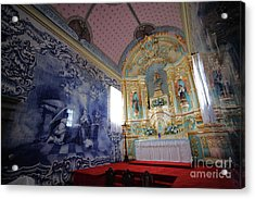 Chapel In Azores Islands Acrylic Print by Gaspar Avila