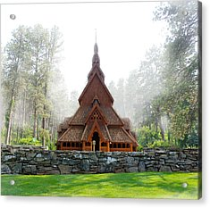 Chapel In The Hills Acrylic Print