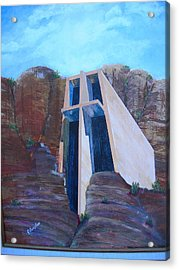 Chapel In The Mountains Acrylic Print by Jack Hampton