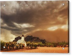 Chapel In The Storm Acrylic Print