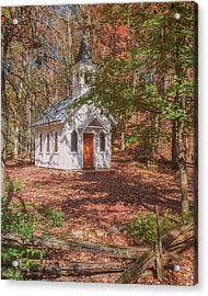 Chapel In Woods At Red Mill 3 Acrylic Print