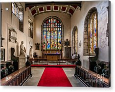 Chapel Stained Glass Acrylic Print by Adrian Evans