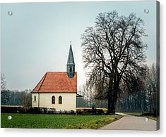 Chapel Under The Tree Acrylic Print by Daniel Precht