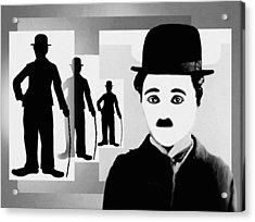 Chaplin, Charlie Chaplin Acrylic Print