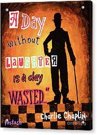 Chaplin Acrylic Print by Igor Postash
