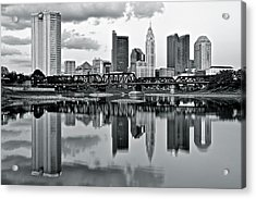 Charcoal Columbus Mirror Image Acrylic Print by Frozen in Time Fine Art Photography