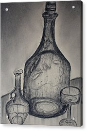 Charcoal  Glass Acrylic Print by Emily Ruth Thompson
