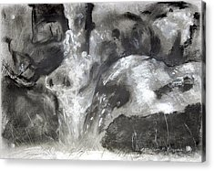 Charcoal Waterfall Acrylic Print