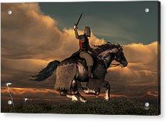 Charging Knight Acrylic Print by Daniel Eskridge