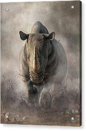Charging Rhino Acrylic Print