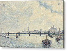 Charing Cross Bridge - London Acrylic Print by Camille Pissarro