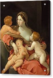 Acrylic Print featuring the painting Charity by Guido Reni
