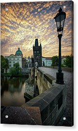 Charles Bridge, Prague, Czech Republic Acrylic Print