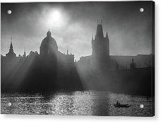 Charles Bridge Towers, Prague, Czech Republic Acrylic Print