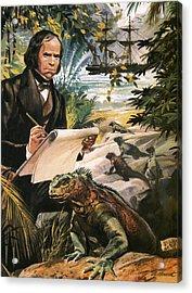 Charles Darwin On The Galapagos Islands Acrylic Print