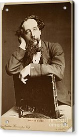 Charles Dickens Acrylic Print by Granger
