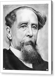 Charles Dickens Acrylic Print by Greg Joens
