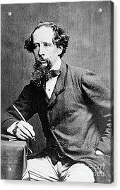 Charles Dickens Acrylic Print by Herbert Watkins