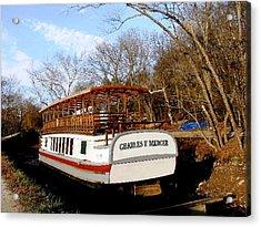 Charles E Mercer Boat - Great Falls Md Acrylic Print by Fareeha Khawaja