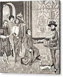 Charles, Eldest Son Of King Pepin Acrylic Print
