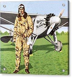 Charles Lindbergh Acrylic Print by John Keay