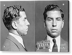 Acrylic Print featuring the photograph Charles Lucky Luciano by Granger