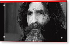 Charles Manson Screen Capture Circa 1970-2015 Acrylic Print