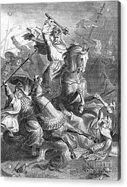 Charles Martel, Battle Of Tours, 732 Acrylic Print