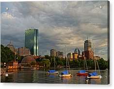 Charles River Boats Esplanade Acrylic Print by Toby McGuire