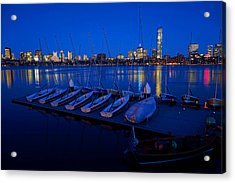 Charles River Boats Acrylic Print by Toby McGuire