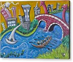 Charles River, Boston Acrylic Print by Jason Gluskin