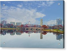 Charles River - Boston Massachusetts Acrylic Print by Bill Cannon