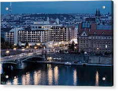 Charles University   Intercontinental Hotel Prague_tonemapped_tonemapped Acrylic Print by Isaac Silman