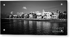 Charleston Battery Row Black And White Acrylic Print