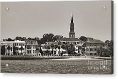 Charleston Battery South Carolina Sepia Acrylic Print by Dustin K Ryan
