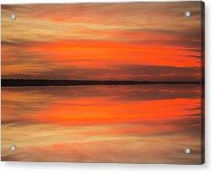 Acrylic Print featuring the photograph Charleston Harbor Sunset 05 by Jim Dollar