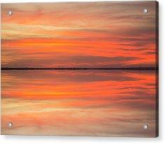 Acrylic Print featuring the photograph Charleston Harbor Sunset 2017 11 by Jim Dollar