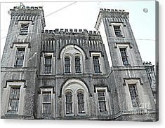 Charleston Historical Haunted Old Jail House - Charleston Old Jail Civil War Architecture  Acrylic Print by Kathy Fornal