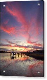 Charleston Lowcountry Sunset Acrylic Print