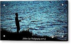 Charleston Morning Fishing Acrylic Print