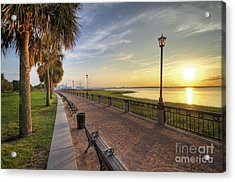 Charleston Sc Waterfront Park Sunrise  Acrylic Print by Dustin K Ryan