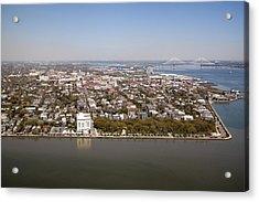 Charleston South Carolina Battery Waterfront Aerial Acrylic Print by Dustin K Ryan